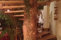 Pose d'un escalier en bois