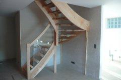 Escalier en bois dans les Vosges