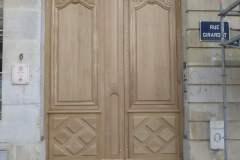 Etape 5 - Pose d'une porte en bois à Nancy