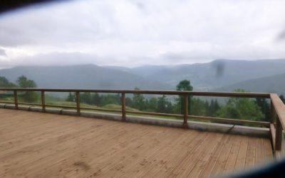 Terrasse en bois à La Bresse