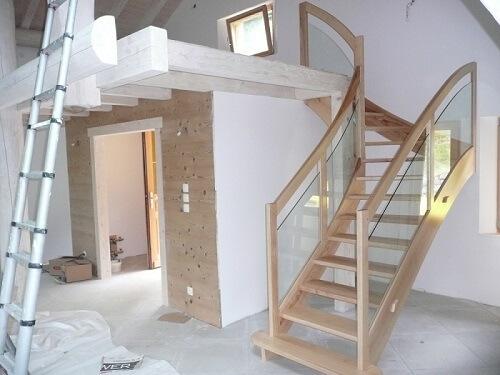 Escaliers bois à Gérardmer