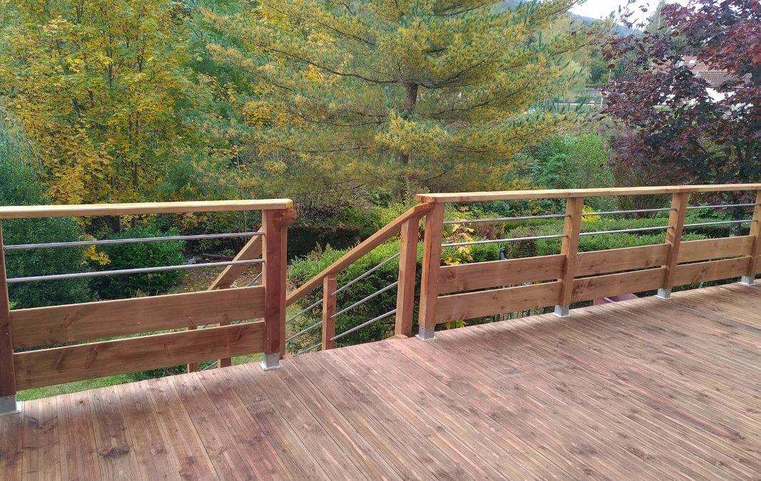 Création terrasse bois à Gérardmer